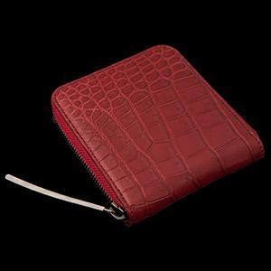マットクロコダイル2つ折りファスナー財布