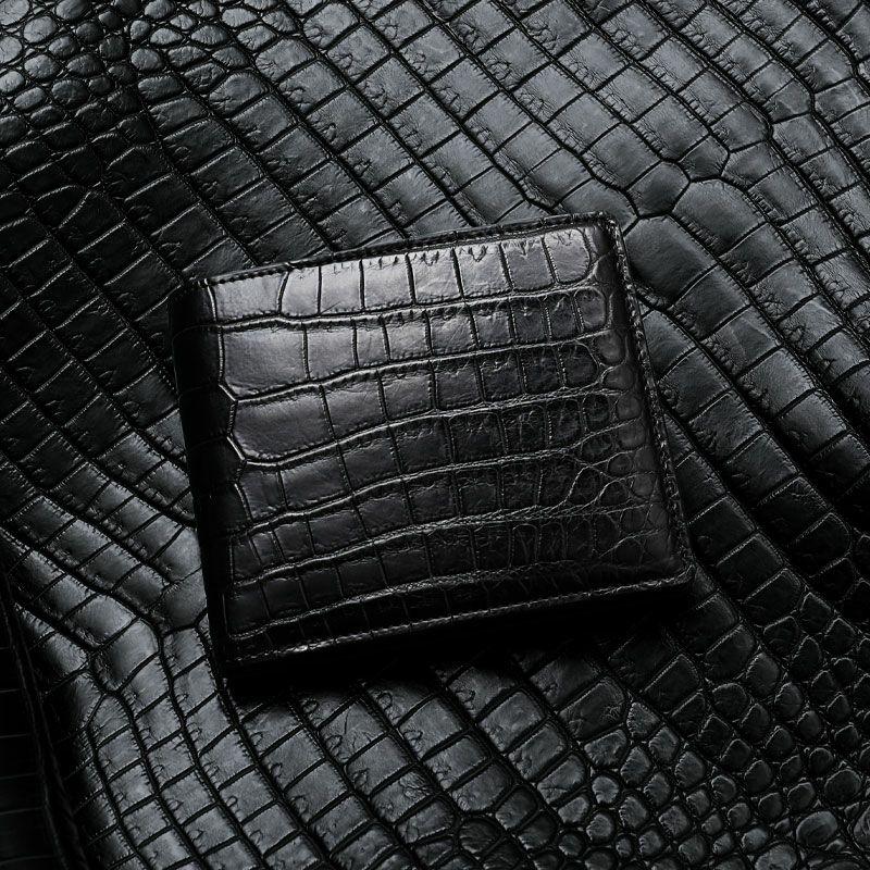 おしゃれな国産メンズブランド財布 池田工芸 マットクロコダイル 二つ折り財布